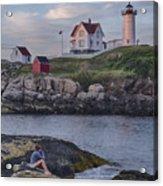 Cape Neddick Lighthouse Acrylic Print by David DesRochers