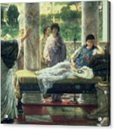 Catullus Reading His Poems Acrylic Print by Sir Lawrence Alma-Tadema