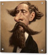Charles Dickens Acrylic Print by Court Jones