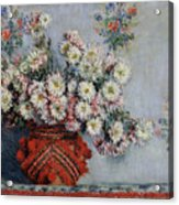 Chrysanthemums Acrylic Print by Claude Monet