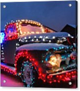 Colorado Christmas Truck Acrylic Print by Bob Berwyn
