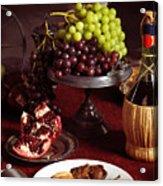 Festive Dinner Still Life Acrylic Print by Oleksiy Maksymenko