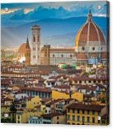 Firenze Duomo Acrylic Print by Inge Johnsson