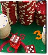 Gambling Dice Acrylic Print by Garry Gay