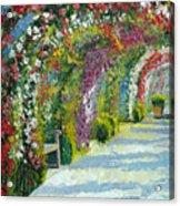 Germany Baden-baden Rosengarten Acrylic Print by Yuriy  Shevchuk