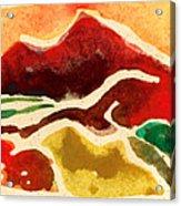 High Mountain Meadows Acrylic Print by Annie Alexander