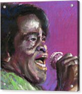 Jazz. James Brown. Acrylic Print by Yuriy  Shevchuk
