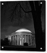Jefferson Memorial At Night Acrylic Print by Sanjay Nayar