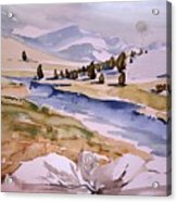 Kennedy Meadows Half In Winter Acrylic Print by Amy Bernays