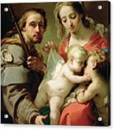 Madonna And Child Acrylic Print by Gaetano Gandolfi