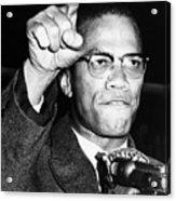 Malcolm X (1925-1965) Acrylic Print by Granger