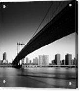 Manhattan Bridge Acrylic Print by Nina Papiorek