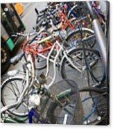 Many Bikes Acrylic Print by Marilyn Hunt