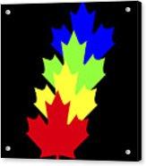 Maple Leaves Acrylic Print by Asbjorn Lonvig