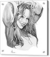 Mariah Carey Acrylic Print by Murphy Elliott