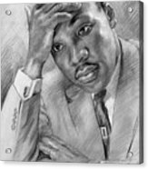 Martin Luther King Jr Acrylic Print by Ylli Haruni