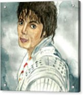 Michael Jackson - Captain Eo Acrylic Print by Nicole Wang
