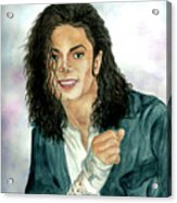 Michael Jackson - Will You Be There Acrylic Print by Nicole Wang