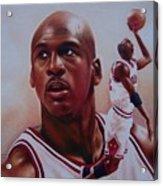 Michael Jordan Acrylic Print by Cory McKee