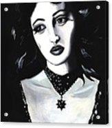 Monica Acrylic Print by Scarlett Royal