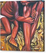 Mother And Child Acrylic Print by Shahid Muqaddim