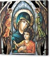 Mother Of God Acrylic Print by Iosif Ioan Chezan