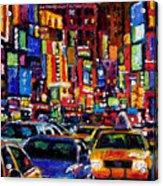 New York City Acrylic Print by Debra Hurd