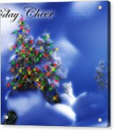 Outdoor Christmas Trees Acrylic Print by Utah Images