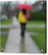 People In The Rain Acrylic Print by Oleksiy Maksymenko