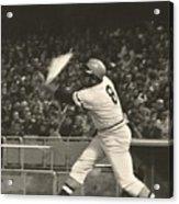 Pittsburgh Pirate Willie Stargell Batting At Dodger Stadium  Acrylic Print by Jamie Baldwin