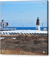 Point Judith Light Acrylic Print by Catherine Reusch  Daley