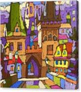 Prague Charles Bridge 01 Acrylic Print by Yuriy  Shevchuk