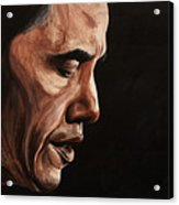 President Barack Obama Portrait Acrylic Print by Patty Vicknair