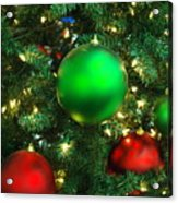 Red And Green Holiday Acrylic Print by Karen Musick