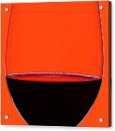 Red Wine Glass Acrylic Print by Frank Tschakert
