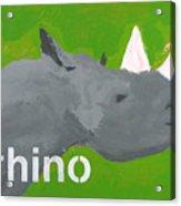Rhinoceros Acrylic Print by Laurie Breen