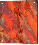 Rust Abstract Acrylic Print by Carol Groenen