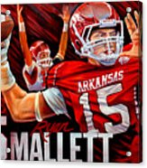 Ryan Mallett Acrylic Print by Jim Wetherington
