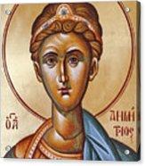 St Demetrios The Great Martyr And Myrrhstreamer Acrylic Print by Julia Bridget Hayes