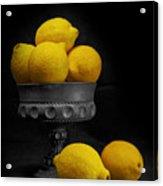 Still Life With Lemons Acrylic Print by Tom Mc Nemar