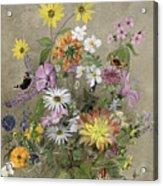 Summer Flowers Acrylic Print by John Gubbins