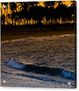 Sunset At The Beach Acrylic Print by Sebastian Musial