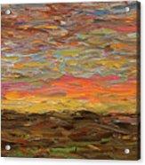 Sunset Acrylic Print by James W Johnson