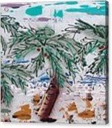 Surf N Palms Acrylic Print by J R Seymour