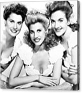 The Andrews Sisters Acrylic Print by Granger