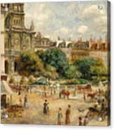 The Banks Of The Seine At Bougival Acrylic Print by Pierre Auguste Renoir