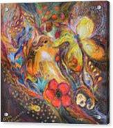 The Blue Lilies Acrylic Print by Elena Kotliarker