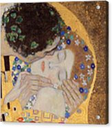 The Kiss Acrylic Print by Gustav Klimt