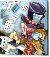 The Mad Hatter Acrylic Print by Lucia Stewart