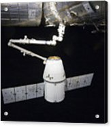The Spacex Dragon Cargo Craft Prior Acrylic Print by Stocktrek Images
